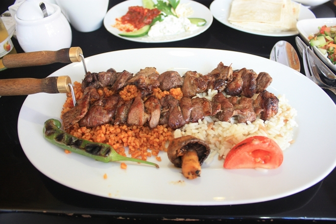 Grilled lamb combo plate at Mangal, Köln, Koeln, Cologne, Germany