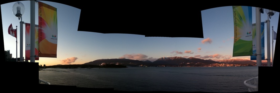 Waterfront panorama, Burrard Inlet, Vancouver, Canada
