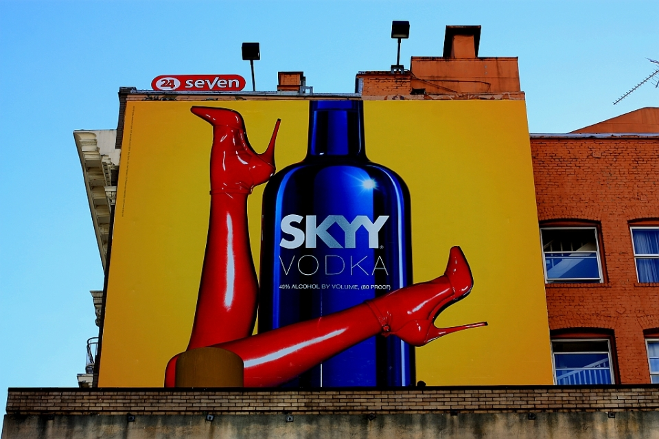street advert, Skyy vodka, San Francisco