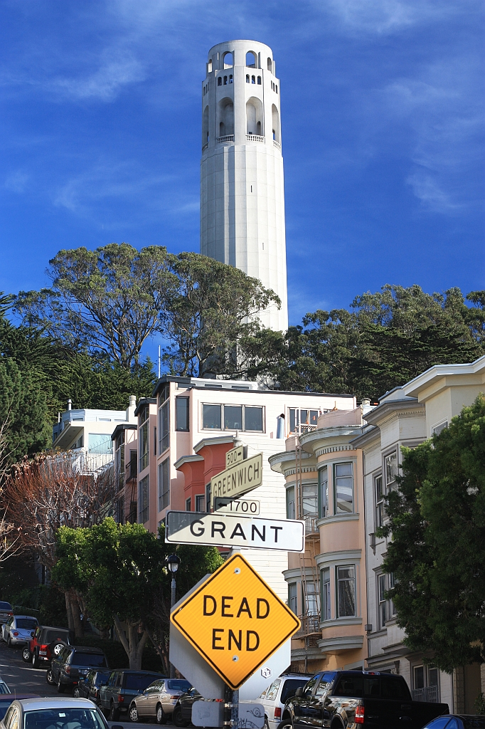 Telegraph Hill, Coit Tower, Greenwich, Grant, San Francisco