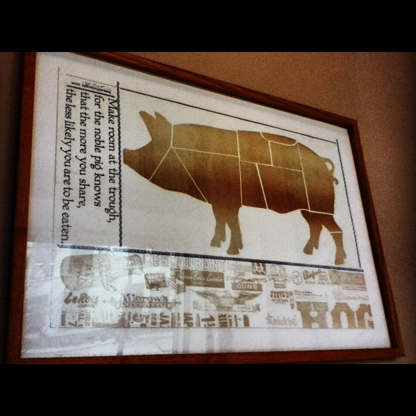Wall poster, Salumi, Seattle