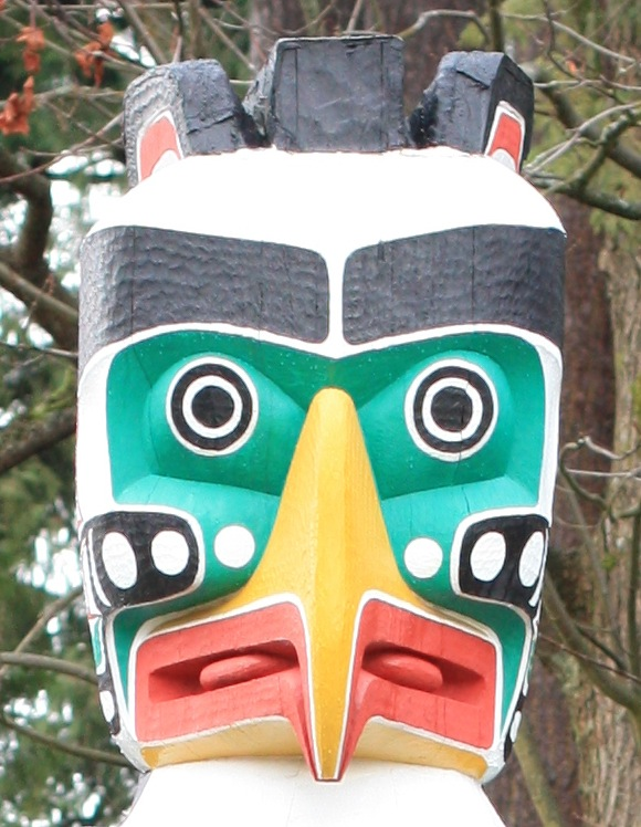 hunderbird house post, totem pole, Brockton Point, Stanley Park, Vancouver, Canada