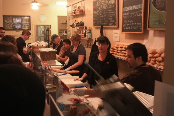 Line to the counter, Salumi, Seattle