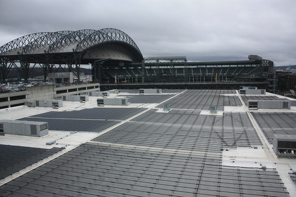 Solar panels, CenturyLink Field, Seattle