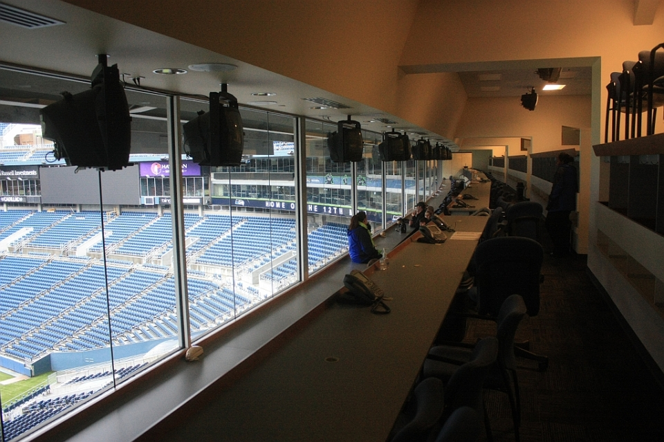 Gary Wright Press Box, CenturyLink Field, Seahawks, Sounders, Seattle