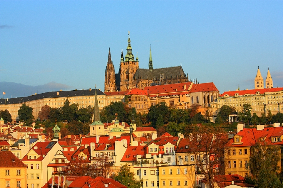 The castle from Charles Bridge, Prague, Czech Republic