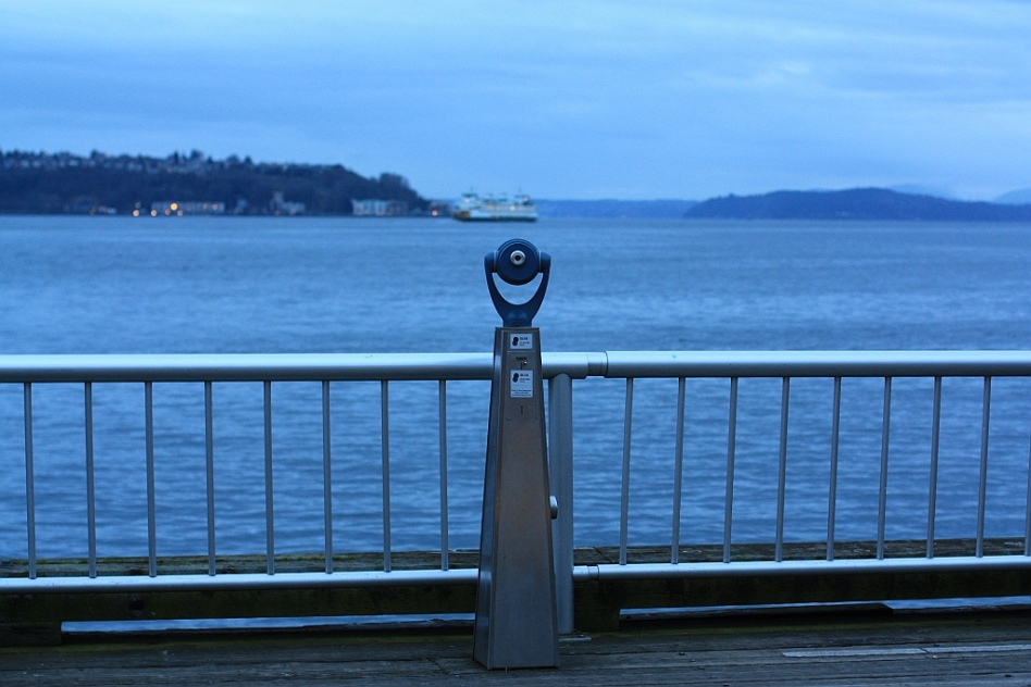 Puget Sound from Waterfront Park, Seattle, WA, USA