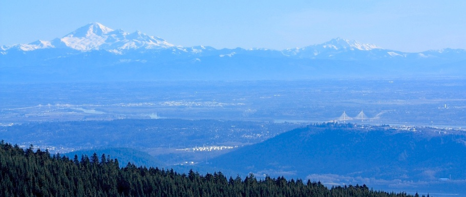 Grouse Mountain, Vancouver, Canada, Mount Baker, Burnaby Mountain