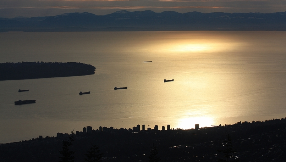 Grouse Mountain, Vancouver, Canada, English Bay, Vancouver Island