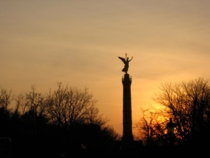 Victory Column at sunset, Tiergarten