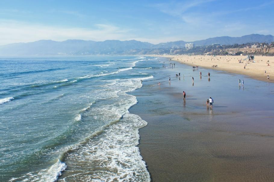 Santa Monica State Beach, Santa Monica Pier, Santa Monica, Los Angeles, California, USA, fotoeins.com