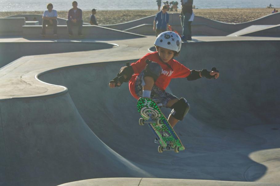 Venice Beach Skatepark, Venice Beach, promenade, Los Angeles, California, USA, fotoeins.com