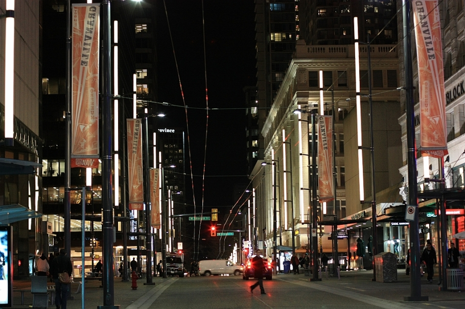 downtown, Granville St., West Georgia St., Vancouver, BC, Canada