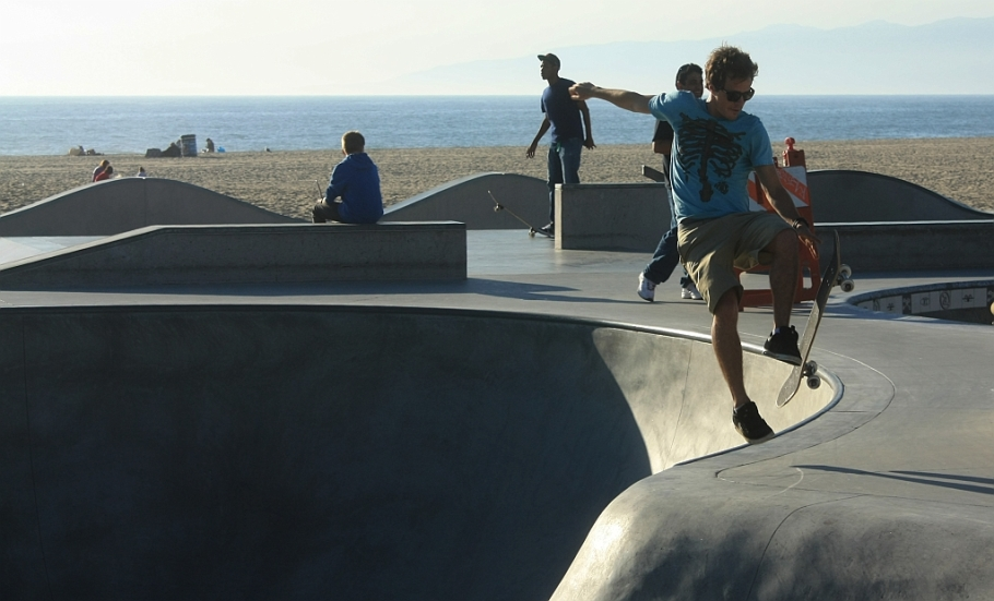 Venice Beach, promenade, Los Angeles, California, USA