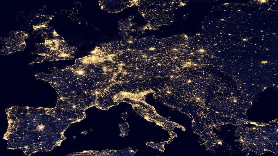 Europe at night, 2012: NASA Earth Observatory