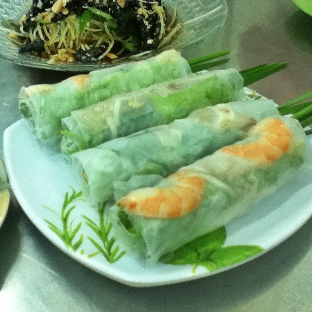 Pork and shrimp rolls, Xoi Ga Number One, Saigon, Ho Chi Minh City, Vietnam
