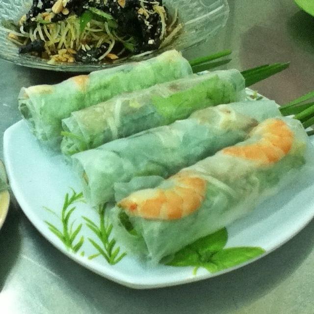 Pork and shrimp rolls, Xoi Ga Number One, Saigon, Ho Chi Minh City, Vietnam