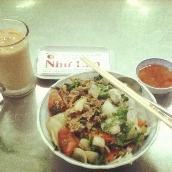 Noodle with fried beef, Nhu Lan, Saigon, Ho Chi Minh City, Saigon