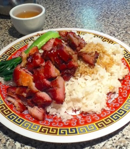 BBQ-pork rice plate, Kom Jug Yuen (Spadina/Chinatown), Toronto, ON