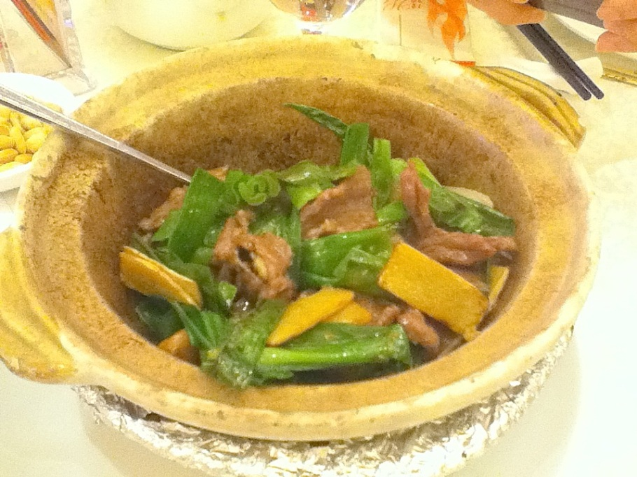 Pan-fried beef with green onion, garlic, ginger. Great Chinatown Seafood Restaurant, Kwun Tong, Kowloon, Hong Kong - 14 Jun 2012