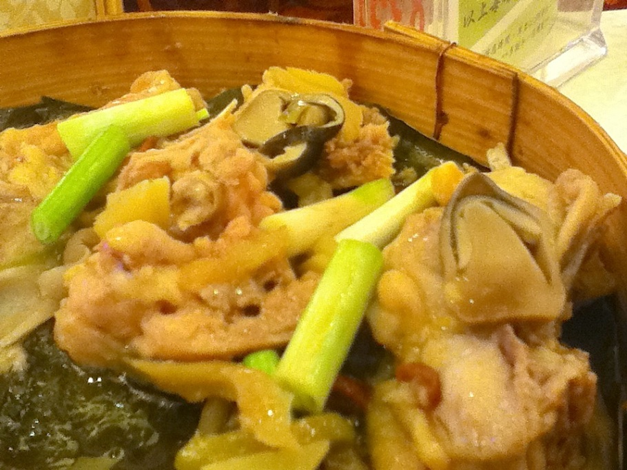Steamed chicken with ginger, green onion, mushrooms, Shaoxing wine sauce. Great Chinatown Seafood Restaurant, Kwun Tong, Kowloon, Hong Kong - 14 Jun 2012