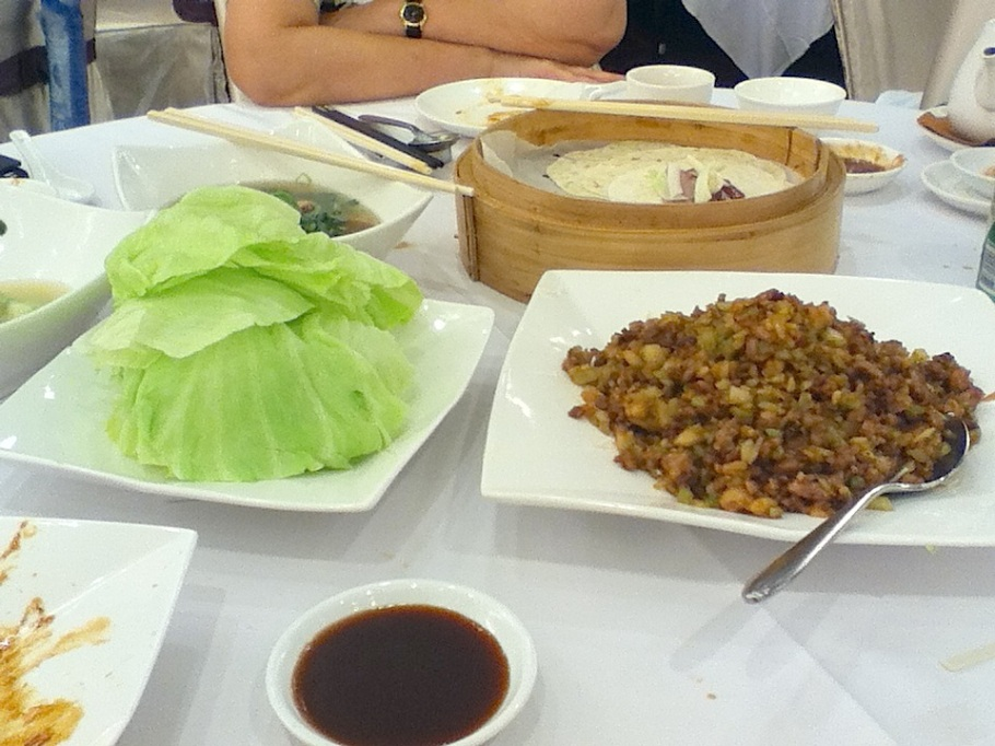 Lettuce wraps with shredded pork. The Graces, Lee Theatre Plaza, Causeway Bay, Hong Kong - 16 Jun 2012