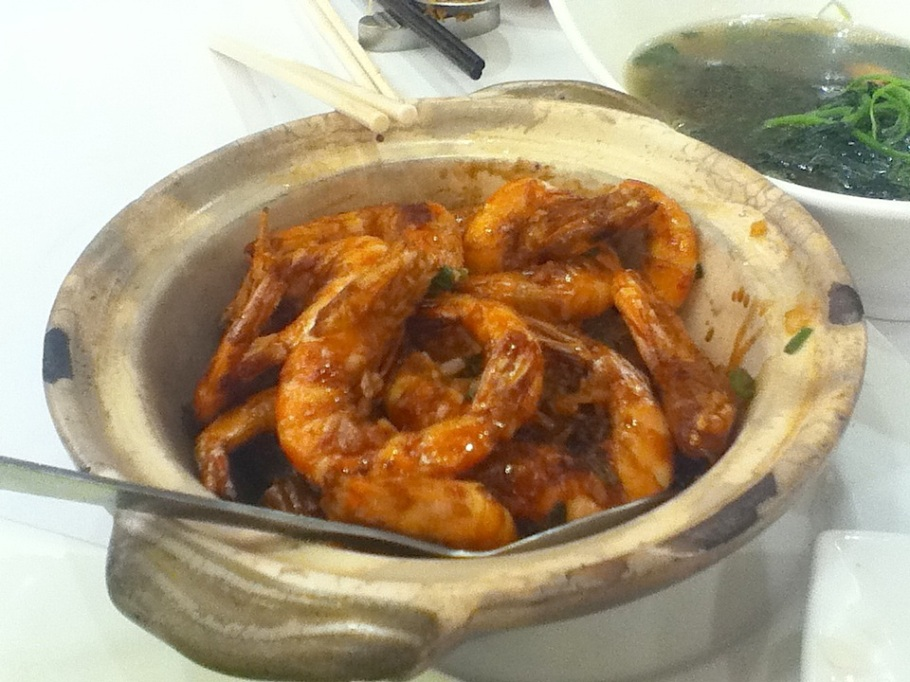 Wok-fried prawns. The Graces, Lee Theatre Plaza, Causeway Bay, Hong Kong - 16 Jun 2012