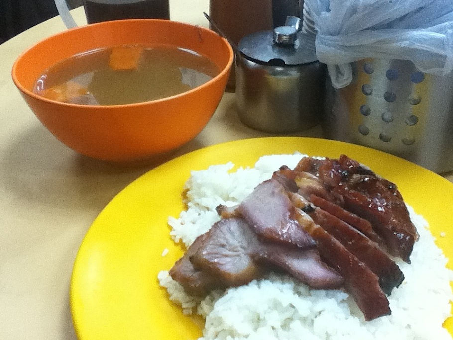 Barbeue-pork rice plate. Joy Hing, Wan Chai, Hong Kong - 18 Jun 2012