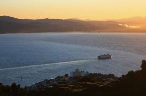 8am Bluebridge ferry to Picton, Mount Victoria, Wellington, New Zealand - 12 July 2012