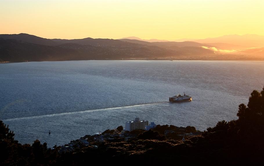 8am Bluebridge ferry to Picton, Mount Victoria, Wellington, New Zealand - 12 July 2012