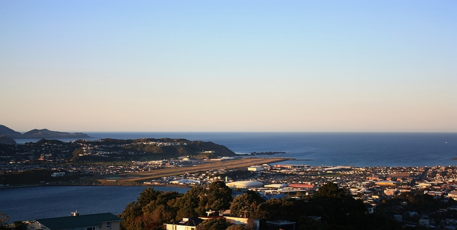 WLG airport, Mount Victoria, Wellington, New Zealand - 12 July 2012