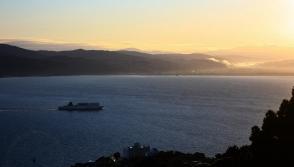 815am Interislander ferry to Picton, Mount Victoria, Wellington, New Zealand - 12 July 2012