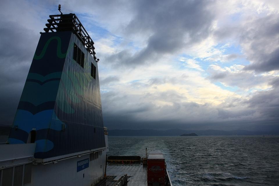 "On board ""Kaitaki"" Interislander ferry from Wellington to Picton, New Zealand, fotoeins.com"