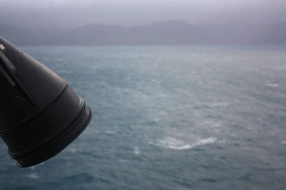 "Cook Strait, on board ""Kaitaki"" Interislander ferry from Wellington to Picton, New Zealand, fotoeins.com"
