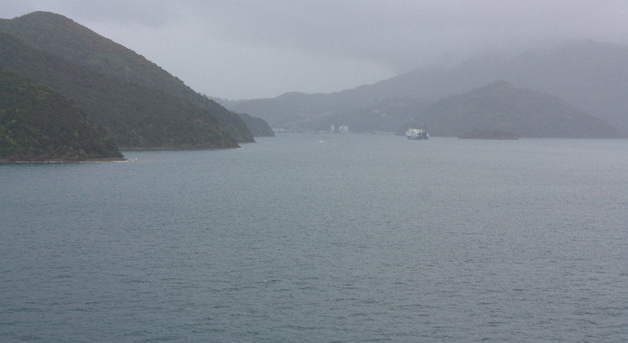 "Entering Picton Harbour, on board ""Kaitaki"" Interislander ferry from Wellington to Picton, New Zealand, fotoeins.com"