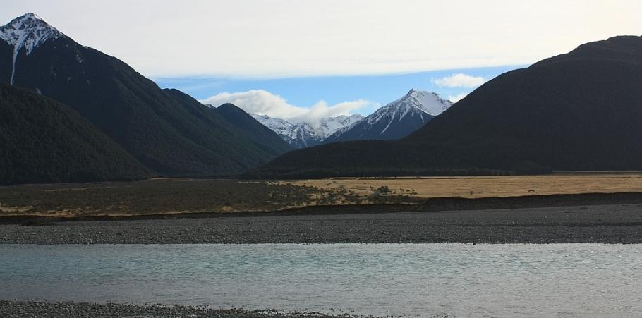 Waimakariri River, from TranzAlpine train from Christchurch to Greymouth