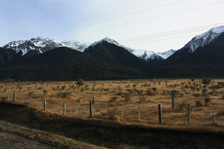 Southern Alps, from TranzAlpine train from Christchurch to Greymouth