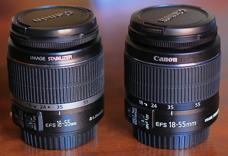 EF-S 18-55mm lens side-by-side: I vs II