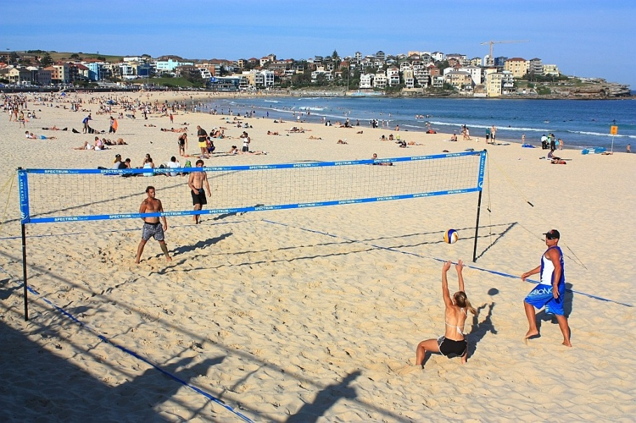 Volleyball at Bondi Beach, Sydney, Australia