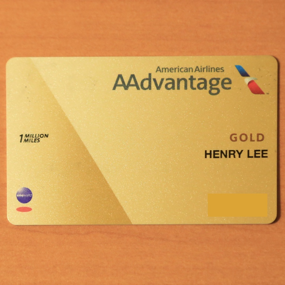 One Million Miler, American Airlines, AAdvantage, AA Gold