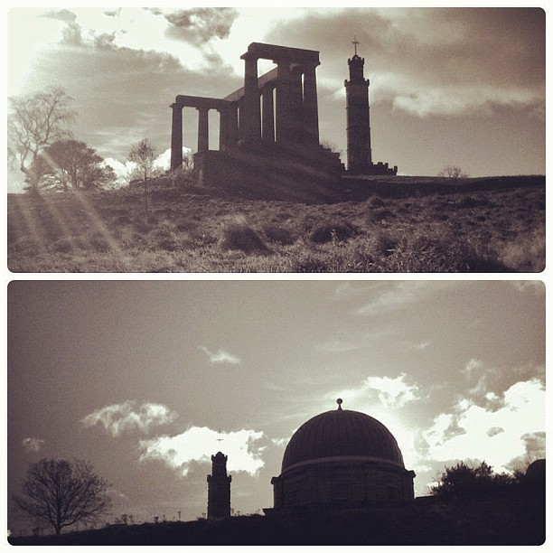 Calton Hill, National Monument, Nelson Monument, City Observatory, Edinburgh, Scotland