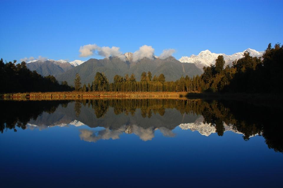 Lake Matheson, Westland National Park, West Coast, South Island, New Zealand, fotoeins.com