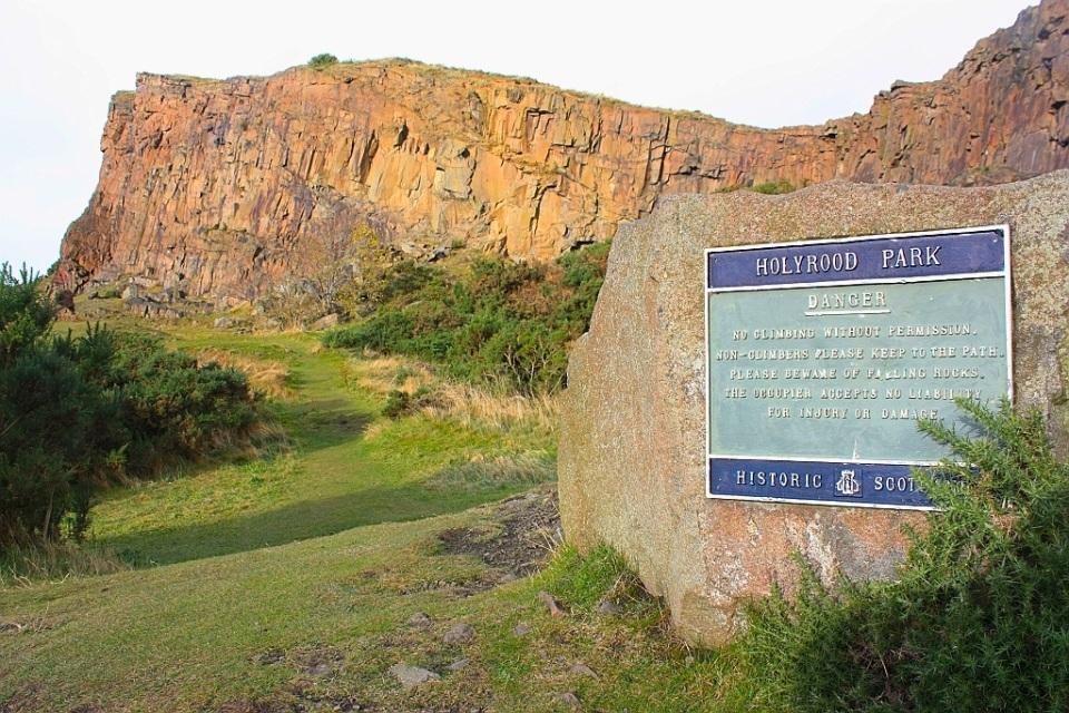 Salisbury Crags, Holyrood Park, Edinburgh, Scotland
