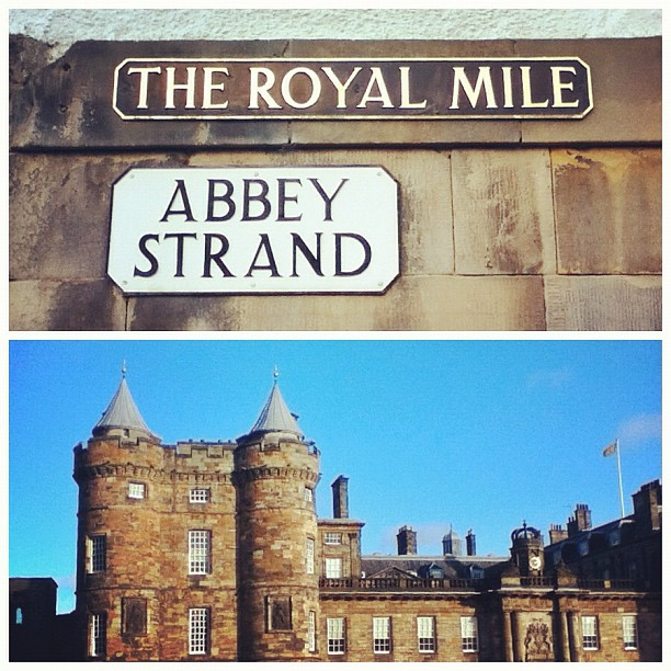 Royal Mile, Abbey Strand, Palace of Holyroodhouse, Edinburgh, Scotland
