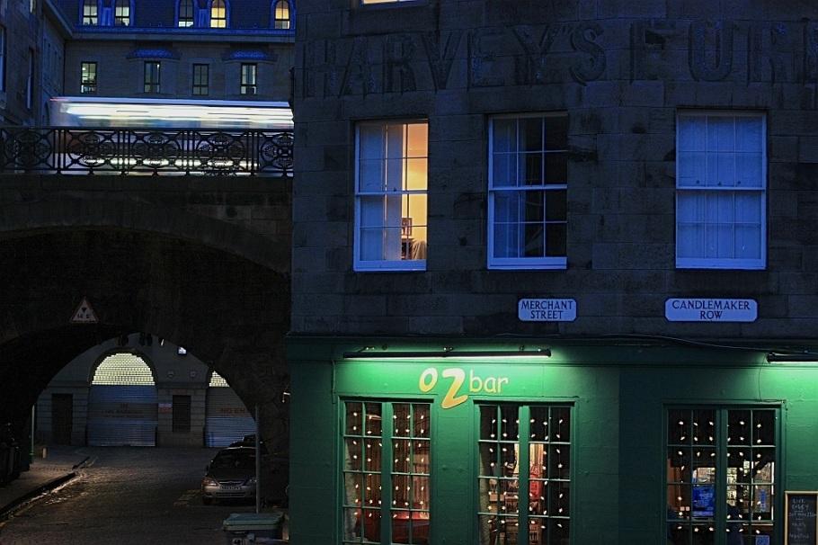 Candlemarker Row, Merchant Street, George IV Bridge, from Greyfriars Kirkyard, Edinburgh, Scotland