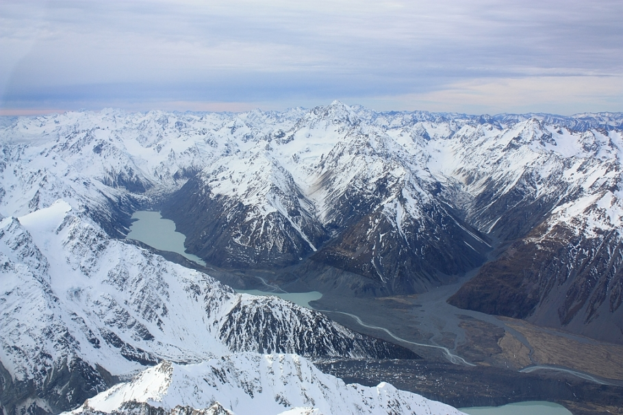 Air Safaris, Southern Alps, Westland National Park, Aoraki Mount Cook National Park, South Island, New Zealand