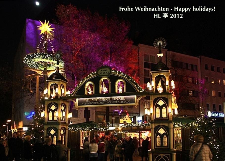 Weihnachtsmarkt, Kölner Altstadt, Heumarkt, Köln, Cologne, Germany