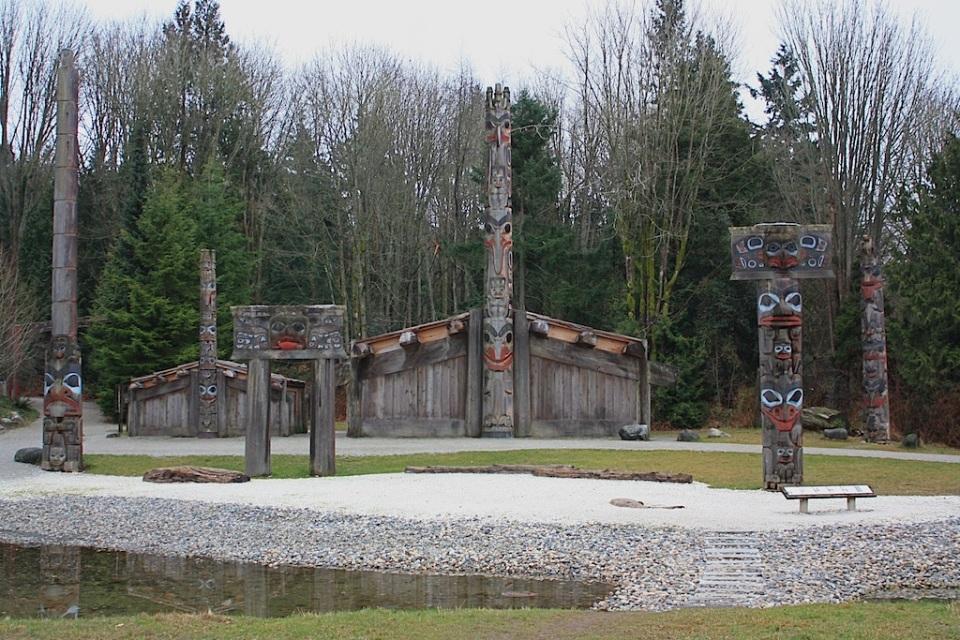 Haida House exhibit, Museum of Anthropology, University of British Columbia, Vancouver, BC, Canada