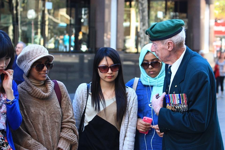 ANZAC Day, Martin Place, Sydney, Australia