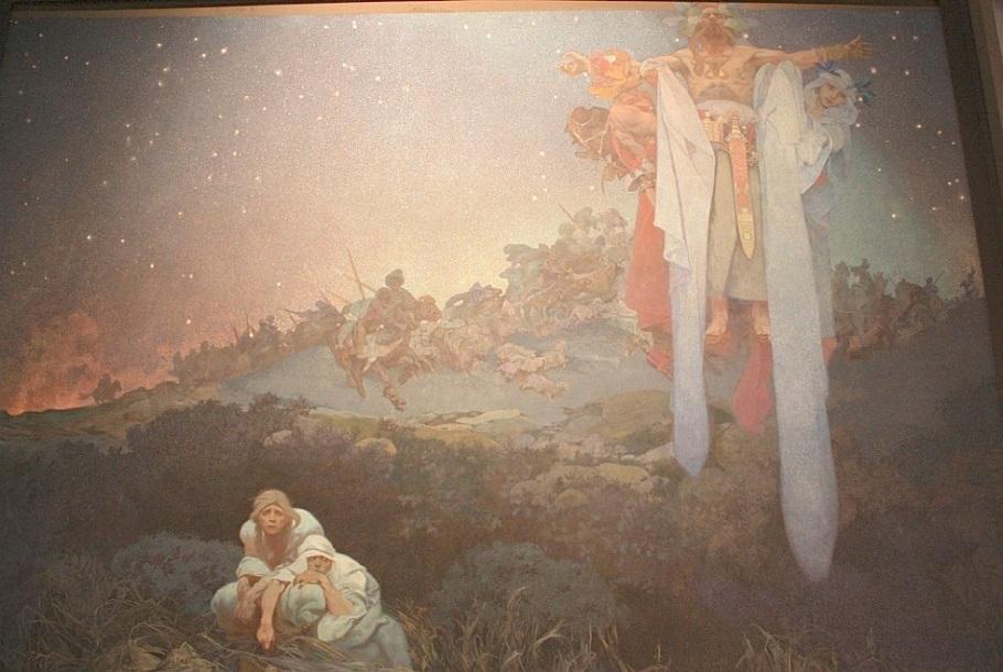 The Slav Epic, Alfons Mucha, Narodni galerie, National Gallery, Veletrzni Palac, Prague, Praha, Czech Republic, fotoeins.com